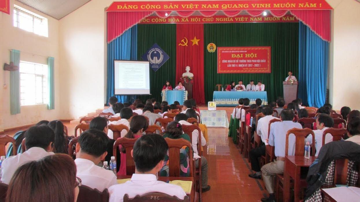 ĐẠI HỘI CÔNG ĐOÀN CƠ SỞ TRƯỜNG THCS PHAN BỘI CHÂU  NHIỆM KỲ 2017-2022