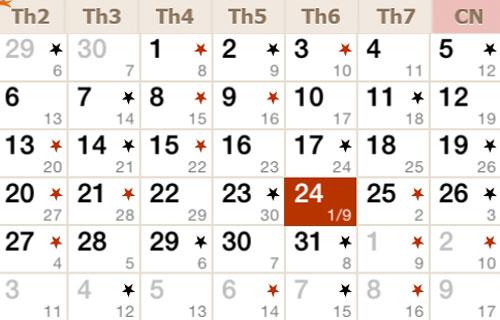 Tính tháng nhuận trong âm lịch như thế nào?
